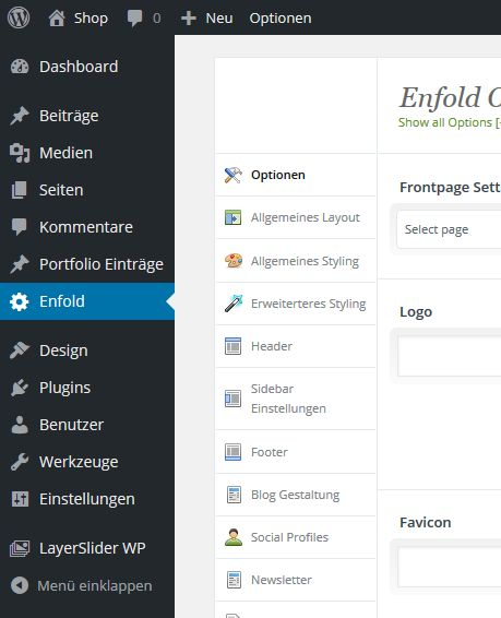WordPress-Enfold