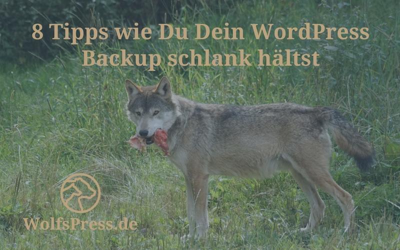 WordPress Backup schlank halten