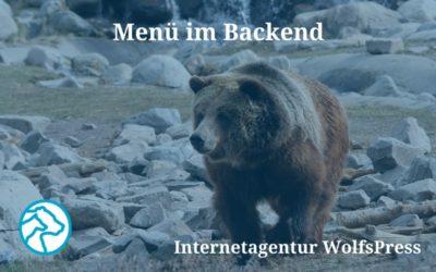 Wer fügt hier was zum Menü im WordPress Backend hinzu?