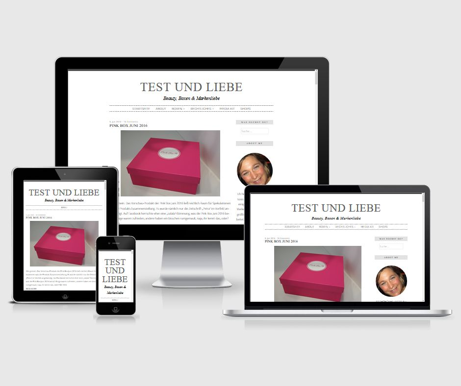 """Responsives Design Blog """"Test und Liebe"""""""