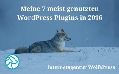 Meine 7 meist genutzten WordPress Plugins in 2016