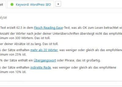 Yoast SEO Lesbarkeit Teil 1 WordPress SEO