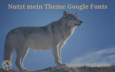 Nutzt mein Theme Google Fonts?